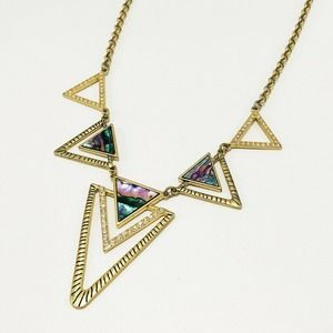 """21"""" Cookie Lee Abalone Triangle Necklace"""